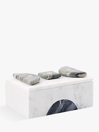 west elm Geo Marble Rectangle Box, Large