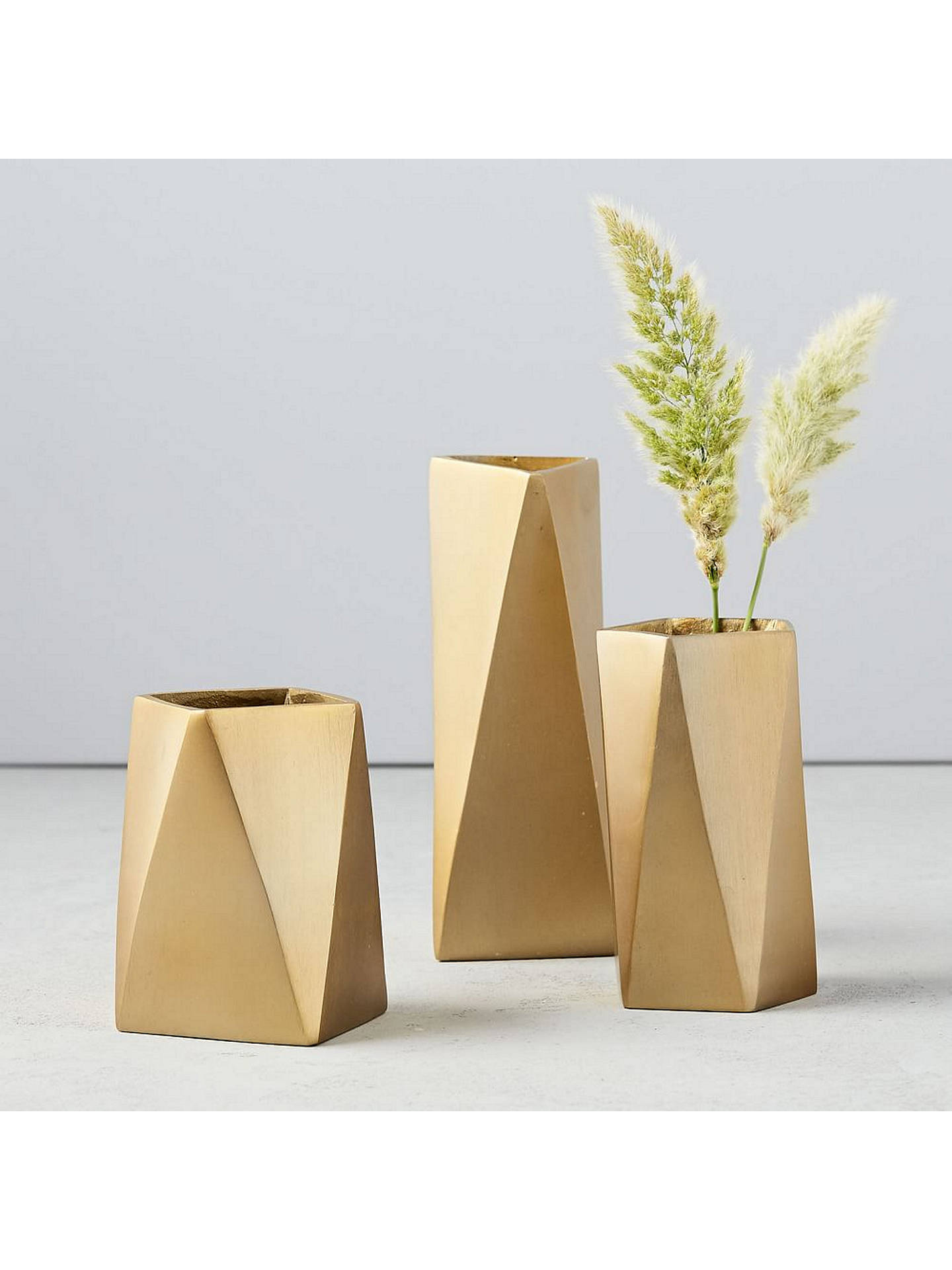 Buywest elm Brass Jewellery Vase, Medium Online at johnlewis.com