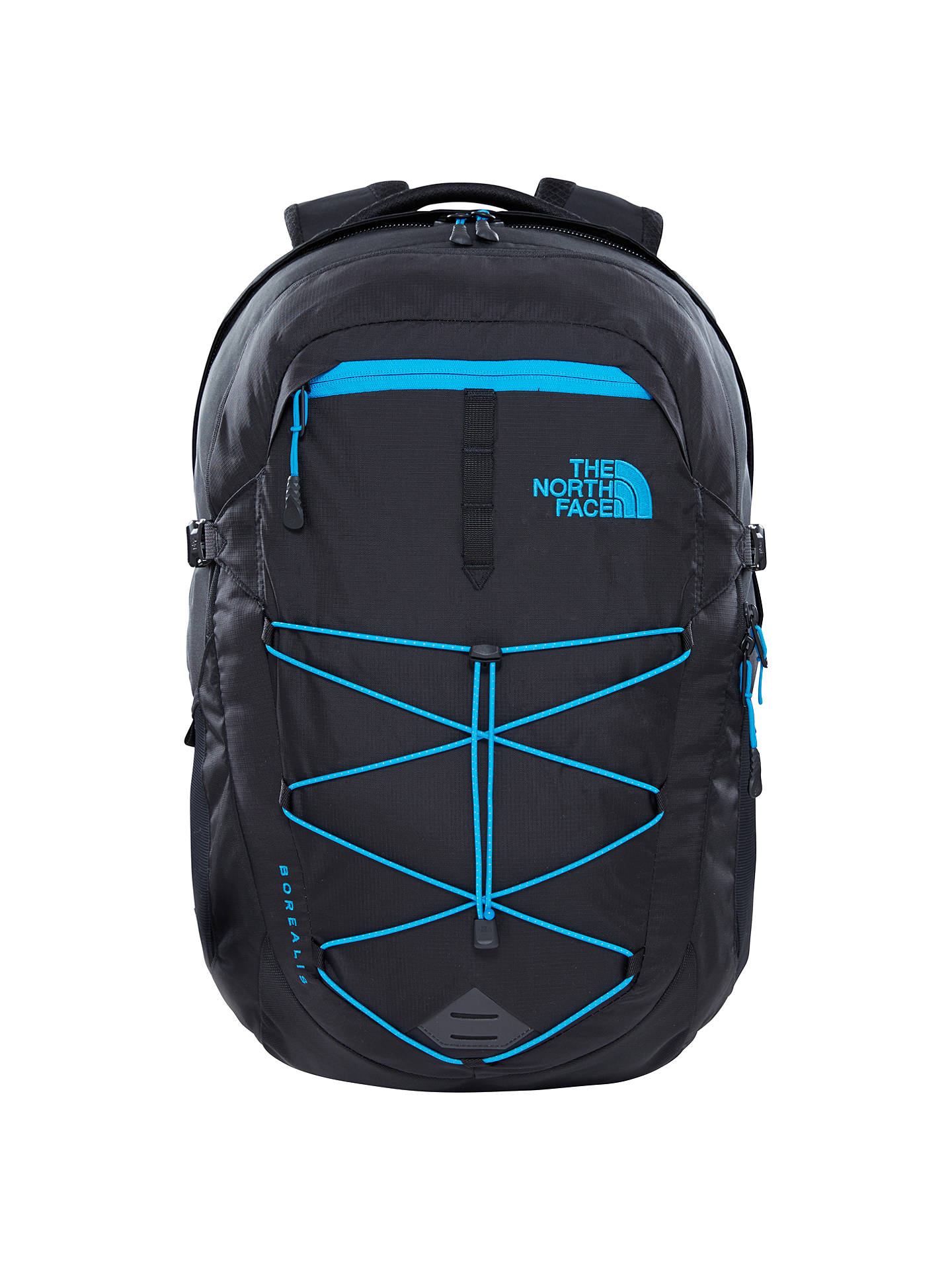 8d145e634 The North Face Borealis Backpack, Black/Blue at John Lewis & Partners