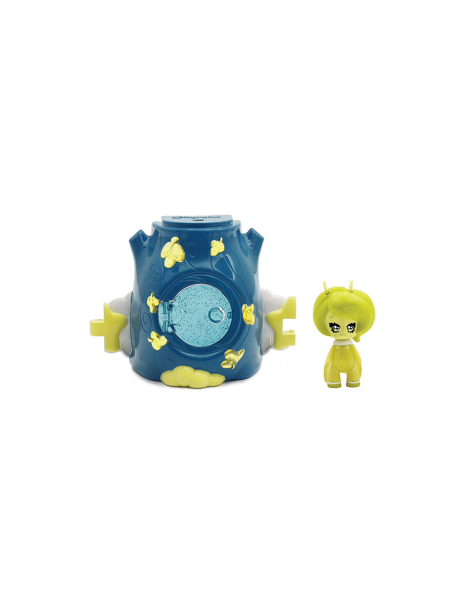 Glimmies Llight-Up Function Glimmies Small Blue Glimhouse and Yellow Glimmie