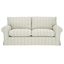 Buy John Lewis Padstow Large 3 Seater Sofa, Parton Stripe Natural/Duck Egg Online at johnlewis.com