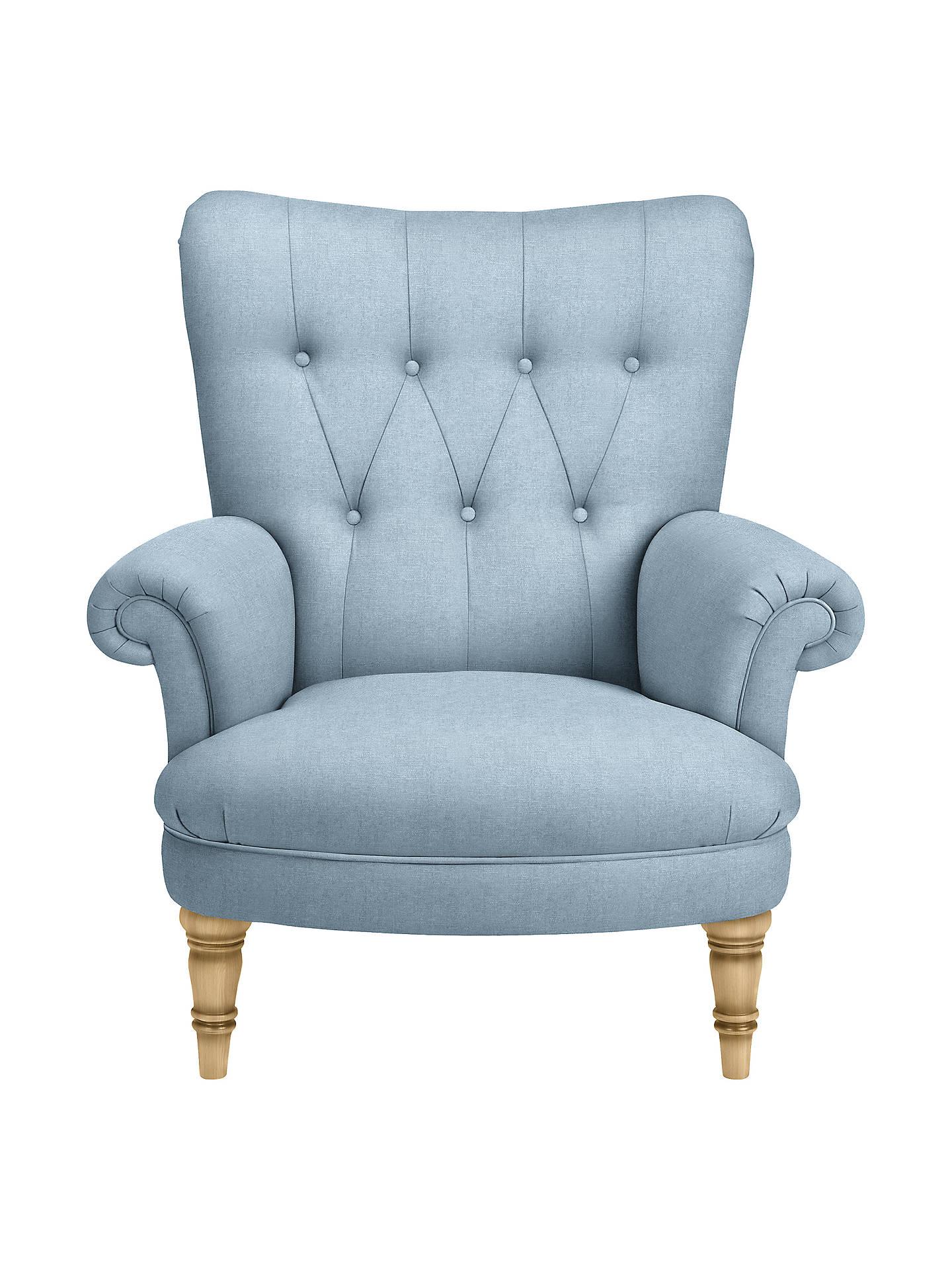 John Lewis & Partners Hambleton Armchair, Light Leg, Erin Duck Egg