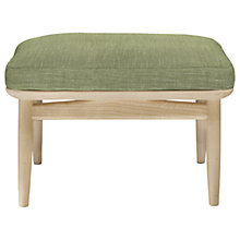 Buy ercol for John Lewis Marino Footstool, Oak Leg, Vernaldo Dune Online at johnlewis.com