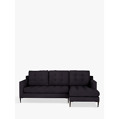 John Lewis & Partners Draper RHF Chaise End Sofa, Dark Leg, Aquaclean Harriet Charcoal