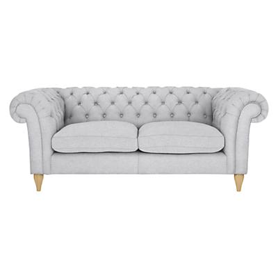 John Lewis Cromwell Chesterfield Large 3 Seater Sofa, Light Leg, Farland Slate