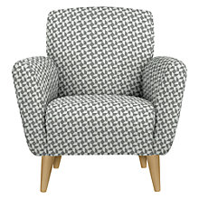 Buy John Lewis Albie Armchair, Light Leg, Geo Storm Online at johnlewis.com