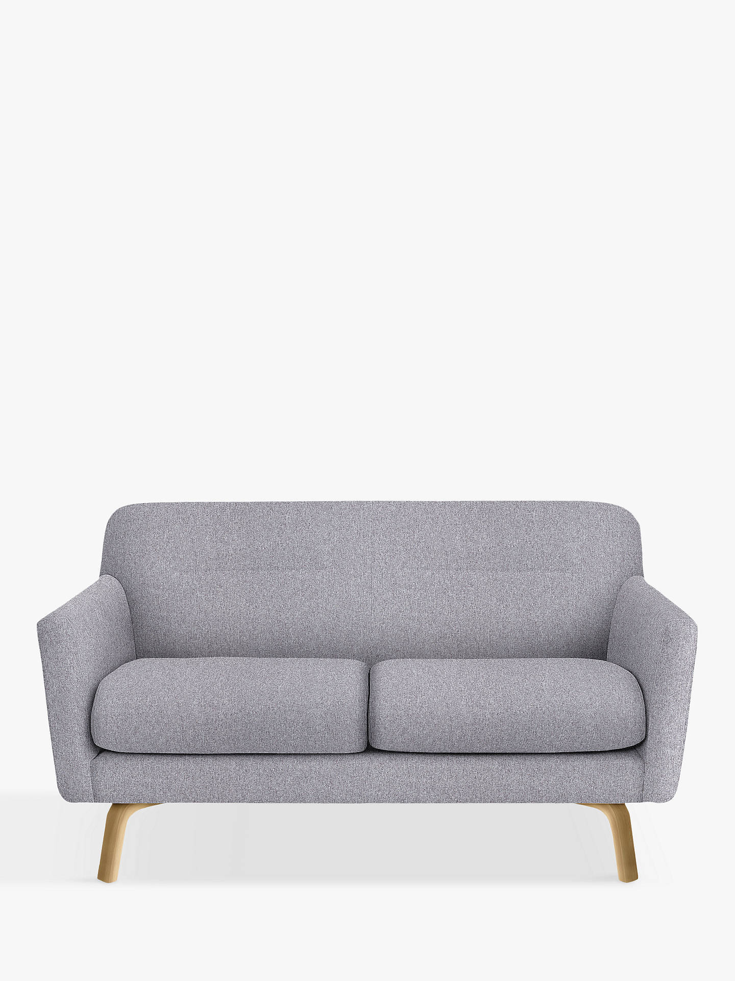 House By John Lewis Archie Medium 2 Seater Sofa Light Leg Saga Grey Online