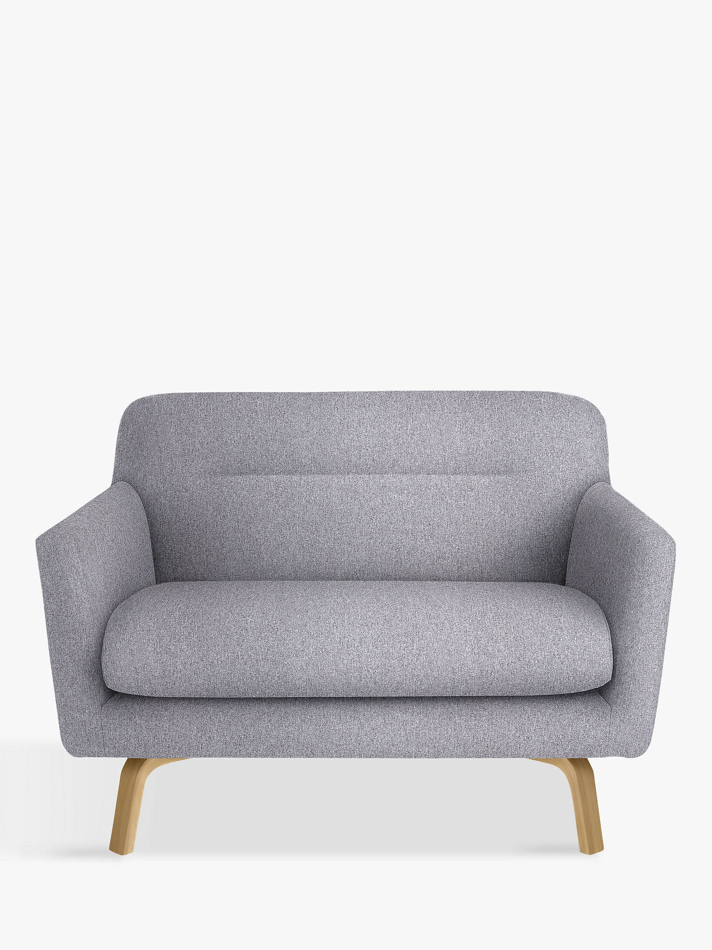 House By John Lewis Archie Small 2 Seater Sofa Light Leg Saga Grey Online
