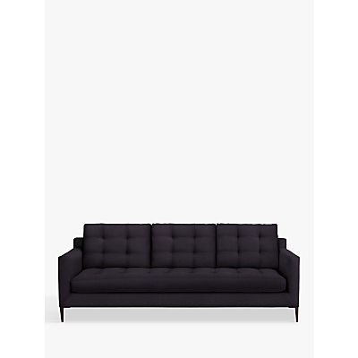 John Lewis Draper Grand 4 Seater Sofa, Dark Leg, Harriet Charcoal