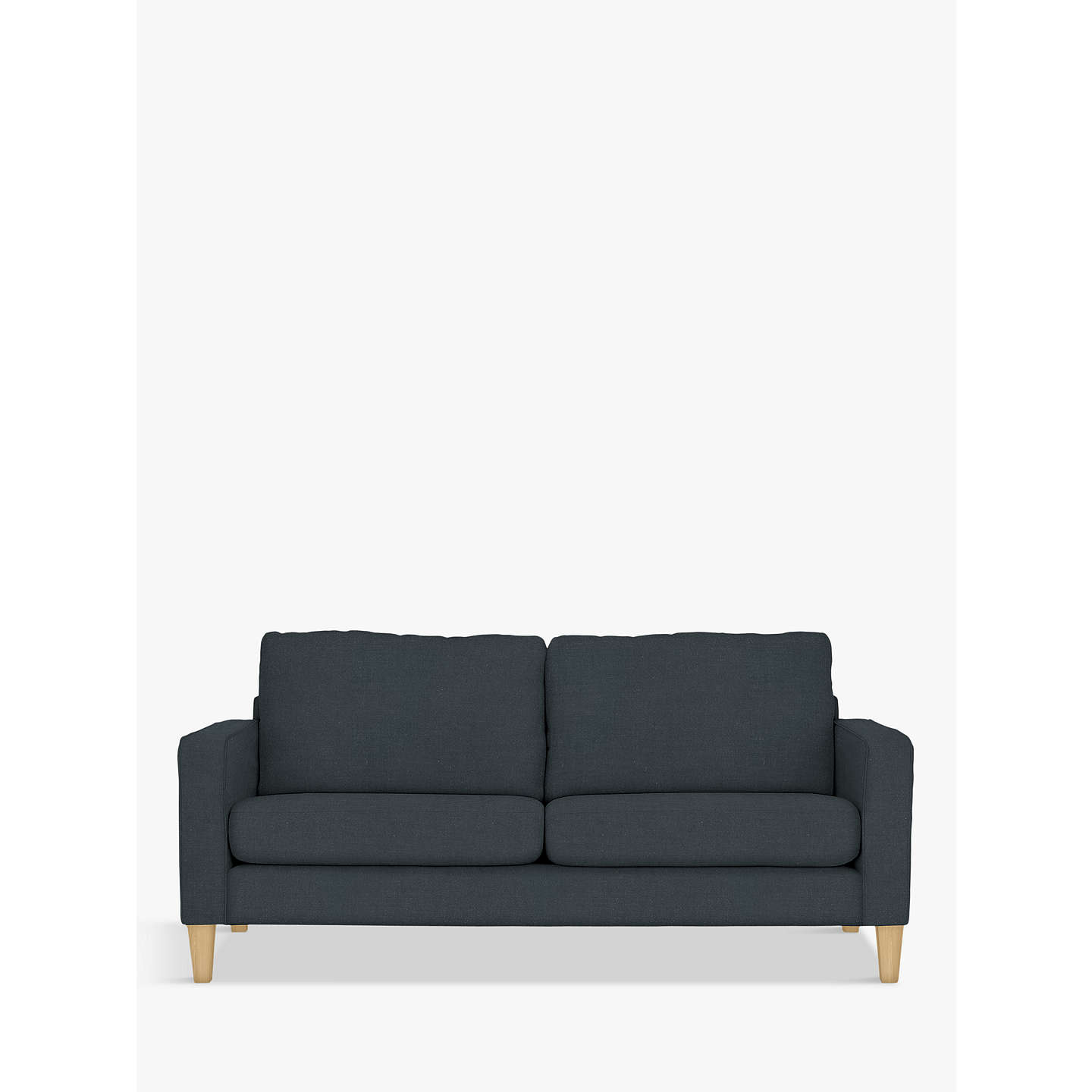 BuyJohn Lewis Jackson Large 3 Seater Sofa, Light Leg, Grey Online at johnlewis.com