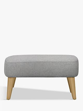 John Lewis & Partners Bergen Footstool, Light Leg
