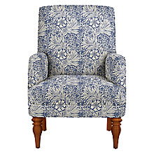 Buy John Lewis Sterling Armchair, Light Leg, Morris & Co Marigold Indigo Linen Online at johnlewis.com