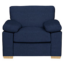 Buy John Lewis Marshall Armchair, Light Leg, Henley Midnight Online at johnlewis.com