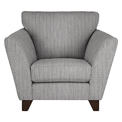 John Lewis Oslo Armchair, Dark Leg, Porto Blue Grey
