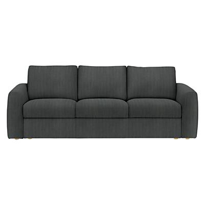 House by John Lewis Finlay II Grand 4 Seater Sofa, Light Leg, Porto Charcoal