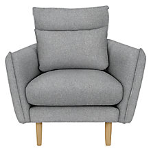 Buy John Lewis Karin Armchair, Oak Leg, Moons Wool Flint Online at johnlewis.com
