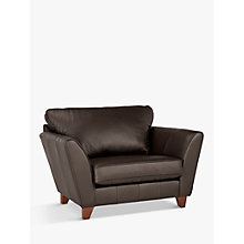 Buy John Lewis Oslo Leather Snuggler, Dark Leg, Destroyed Leather Online at johnlewis.com