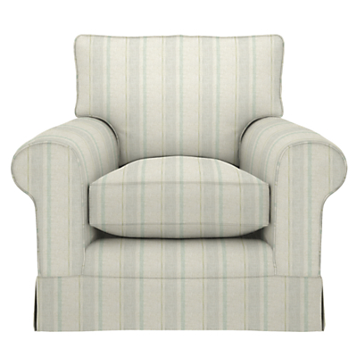 John Lewis Padstow Armchair, Parton Stripe Natural/Duck Egg
