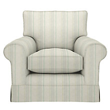 Buy John Lewis Padstow Armchair, Parton Stripe Natural/Duck Egg Online at johnlewis.com
