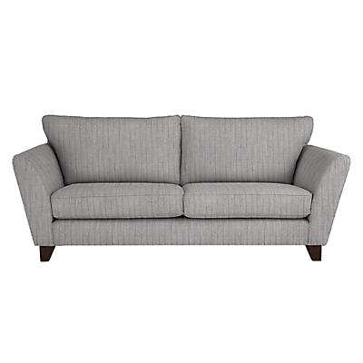 John Lewis Oslo Large 3 Seater Sofa, Dark Leg, Porto Blue Grey