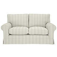 Buy John Lewis Padstow Medium 2 Seater Sofa, Parton Stripe Natural/Duck Egg Online at johnlewis.com