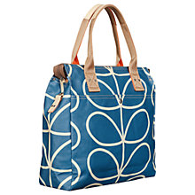 Buy Orla Kiely Giant Linear Stem Canvas Grab Bag, Marine Online at johnlewis.com