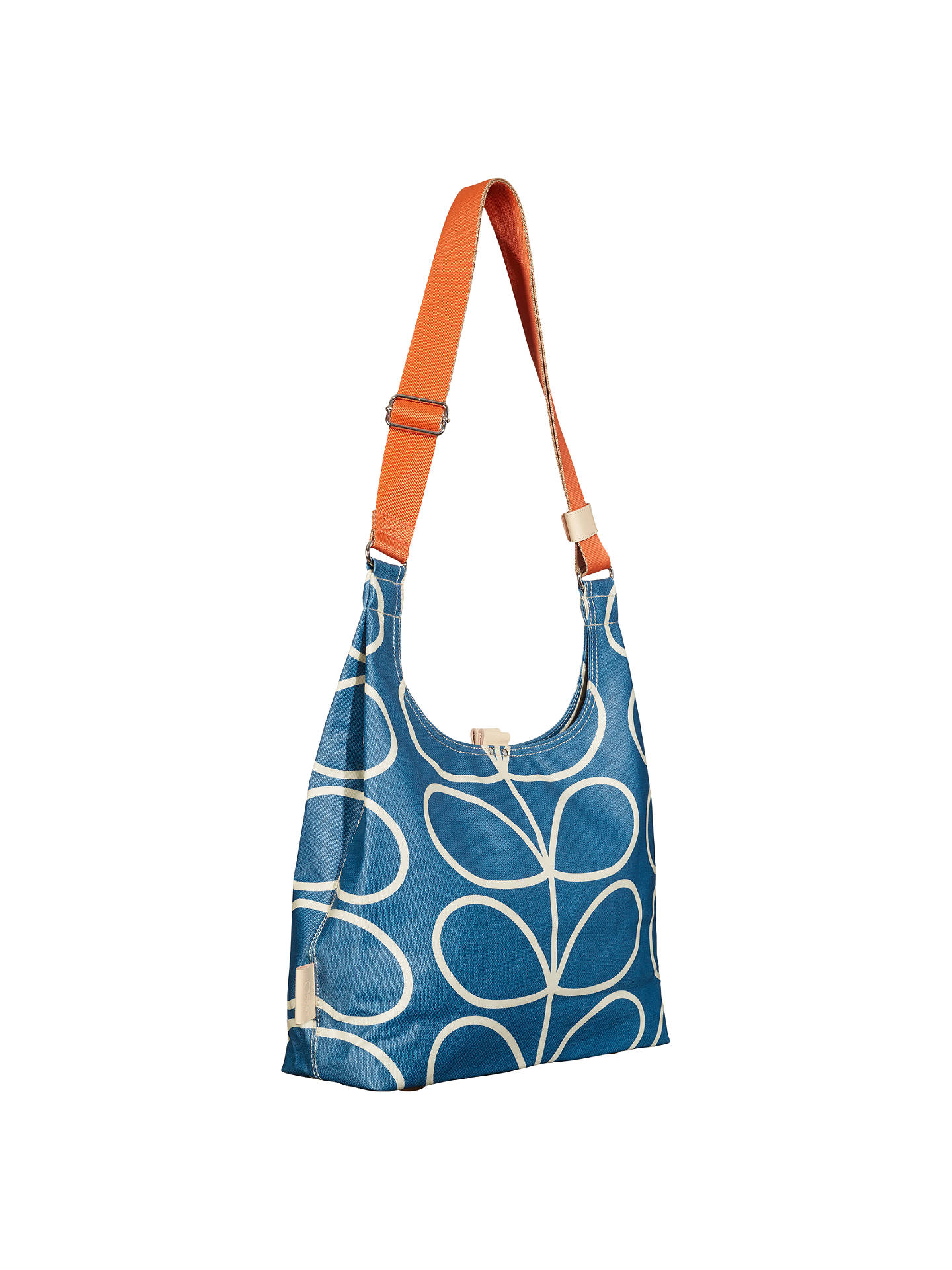 BuyOrla Kiely Giant Linear Stem Canvas Shoulder Bag, Marine Online at  johnlewis.com ... b602511672