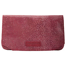Buy Liebeskind Aloe F7 Leather Clutch Bag, Blood Red Online at johnlewis.com