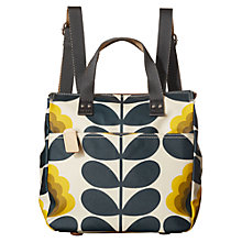Buy Orla Kiely Summer Flower Canvas Backpack, Sunshine Online at johnlewis.com