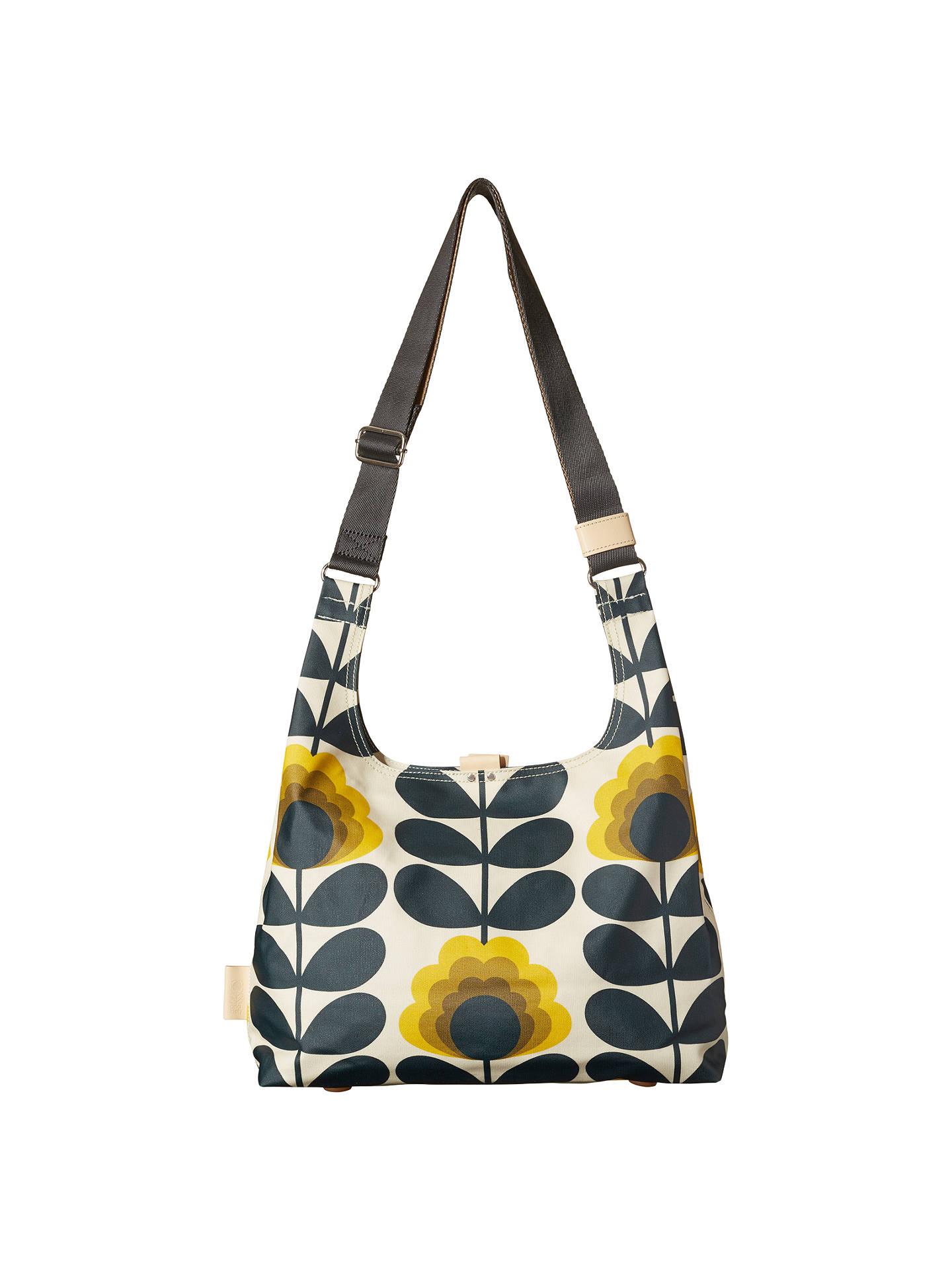 Orla Kiely Smmer Flower Medium Shoulder Bag Sunshine At