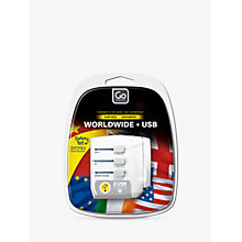 Buy Go Travel USB UK and USB Travel Adaptor Online at johnlewis.com