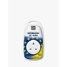 Buy Go Travel UK-EU Adaptor Online at johnlewis.com