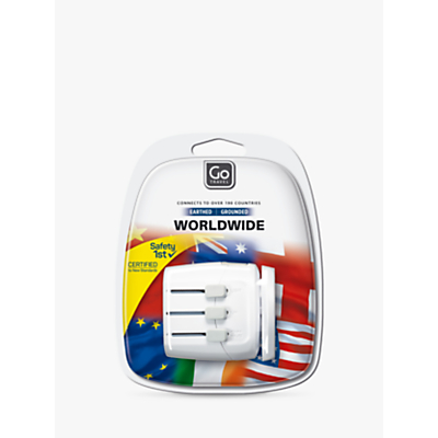 Product photo of Go travel worldwide adaptor for uk electrical