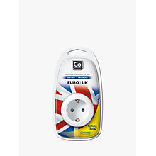 Buy Go Travel Visitor EU to UK Adaptor, White Online at johnlewis.com