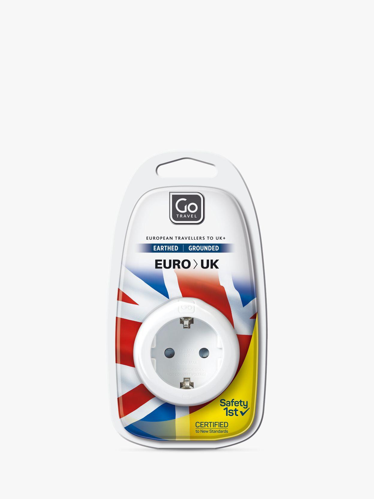 Go Travel Go Travel Visitor EU to UK Adaptor, White