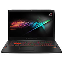 "Buy ASUS ROG GL702 Laptop, Intel Core i7, 24GB RAM, 1TB HDD + 256GB SSD,17.3"" Full HD, Black Online at johnlewis.com"