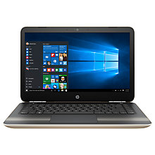 "Buy HP Pavilion 14-al118na Laptop, Intel Core i7, 8GB RAM, 256GB SSD, NVIDIA 940MX, 14"" Full HD, Gold Online at johnlewis.com"