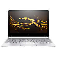 "Buy HP Spectre 13-v103na Laptop, Intel Core i7, 8GB RAM, 512GB SSD, 13.3"" Full HD, Natural Silver Online at johnlewis.com"