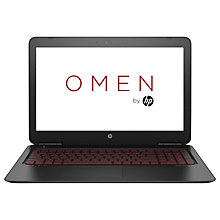"Buy HP OMEN 15-ax203na Gaming Laptop, Intel Core i5, 8GB RAM, 1TB, NVIDIA GTX 1050, 15.6"" Full HD, Natural Silver Online at johnlewis.com"