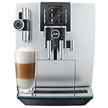 Buy Jura J6 Bean to Cup Coffee Machine, Brilliant Silver Online at johnlewis.com