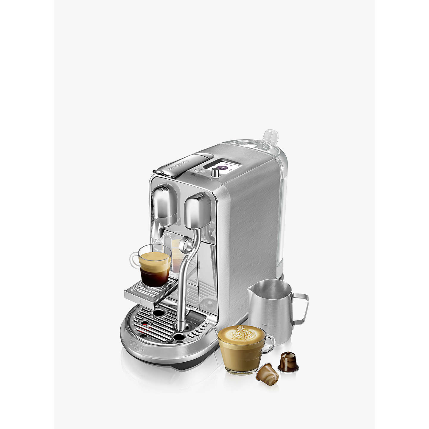 BuyNespresso Creatista Plus Coffee Machine by Sage, Stainless Steel Online at johnlewis.com