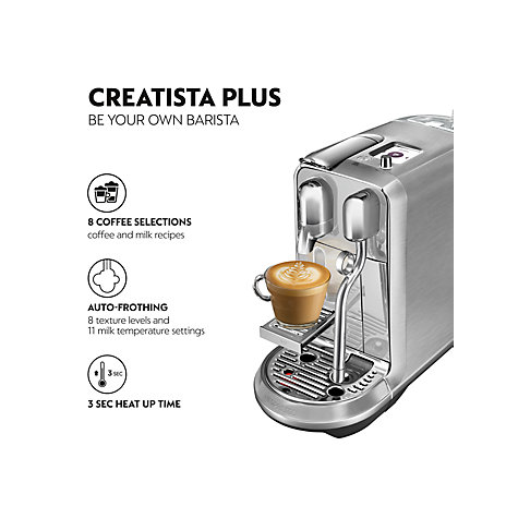 Buy Nespresso Creatista Plus Coffee Machine by Sage Online at johnlewis.com