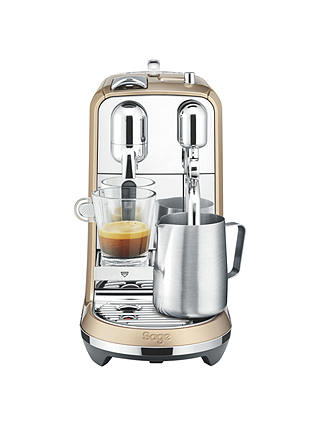 Buy Nespresso Creatista Coffee Machine by Sage, Champagne Online at johnlewis.com