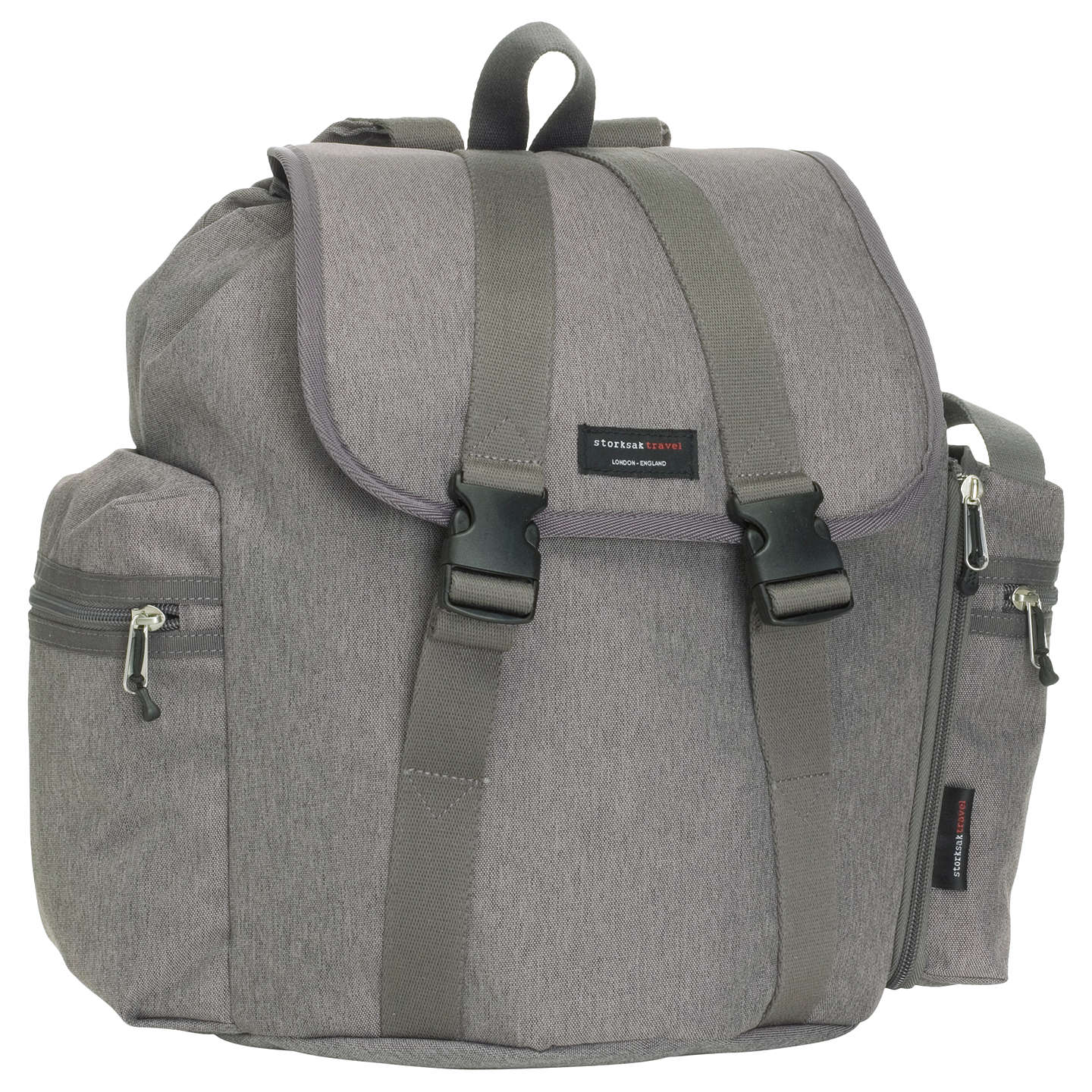 BuyStorksak Travel Backpack Bag, Grey Online at johnlewis.com