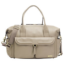 Buy Storksak Charlotte Leather Changing Bag, Clay Online at johnlewis.com