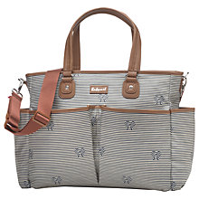 Buy Babymel Bella Bow Stripe Changing Bag, Navy Online at johnlewis.com