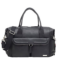 Buy Storksak Charlotte Leather Changing Bag, Black Online at johnlewis.com