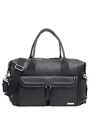 Storksak Charlotte Leather Changing Bag, Black