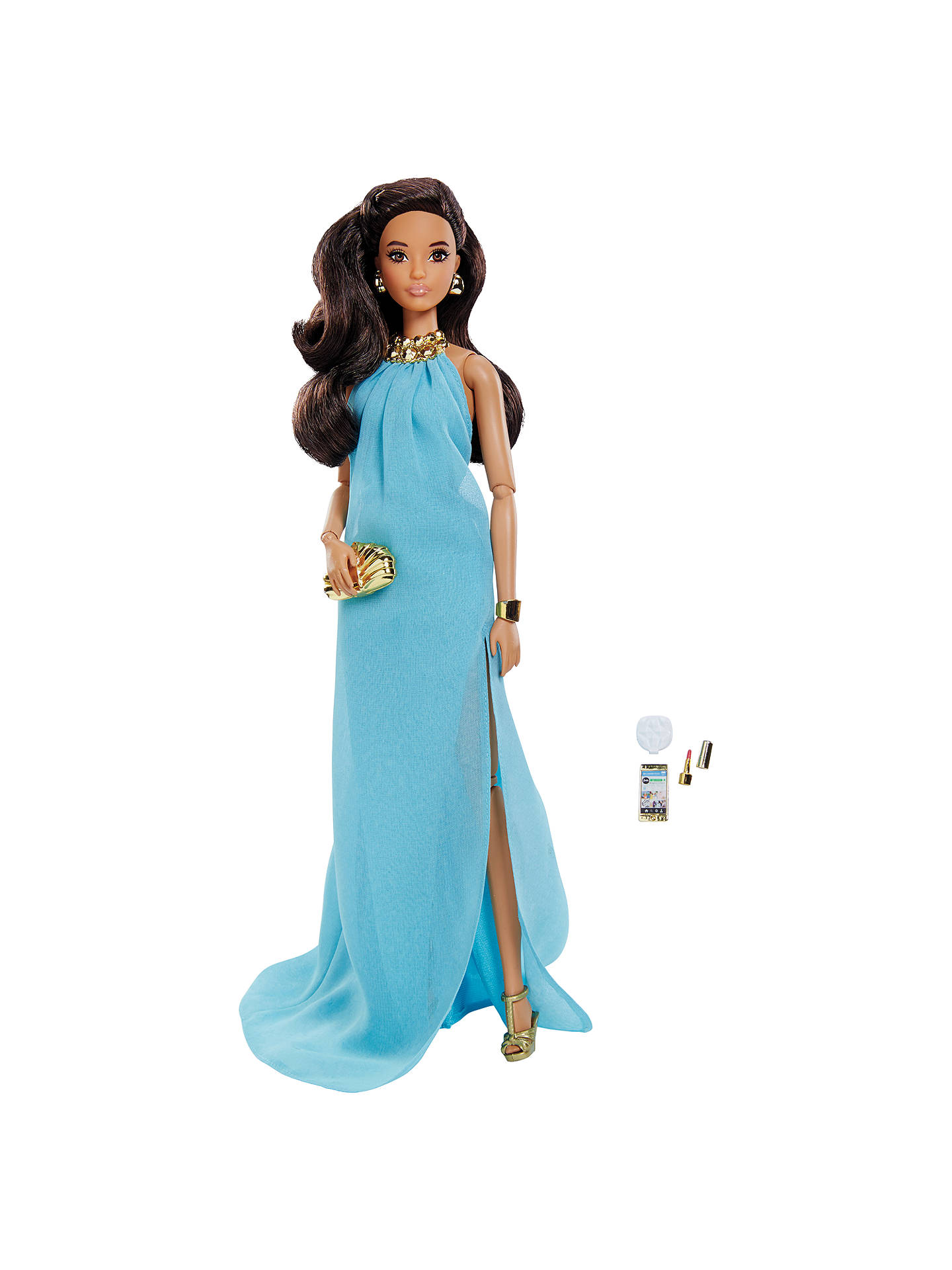a5ead7772345e Barbie Look Collectable Pool Party Pretty Blue Dress Doll at John ...