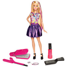Buy Barbie DIY Curl Crimp and Colour Doll Online at johnlewis.com